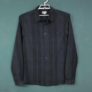 Haggar Black and Gray Striped Shirt - XLT/XL Tall